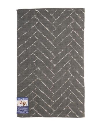 Finarte Aitta cotton rug in dark grey