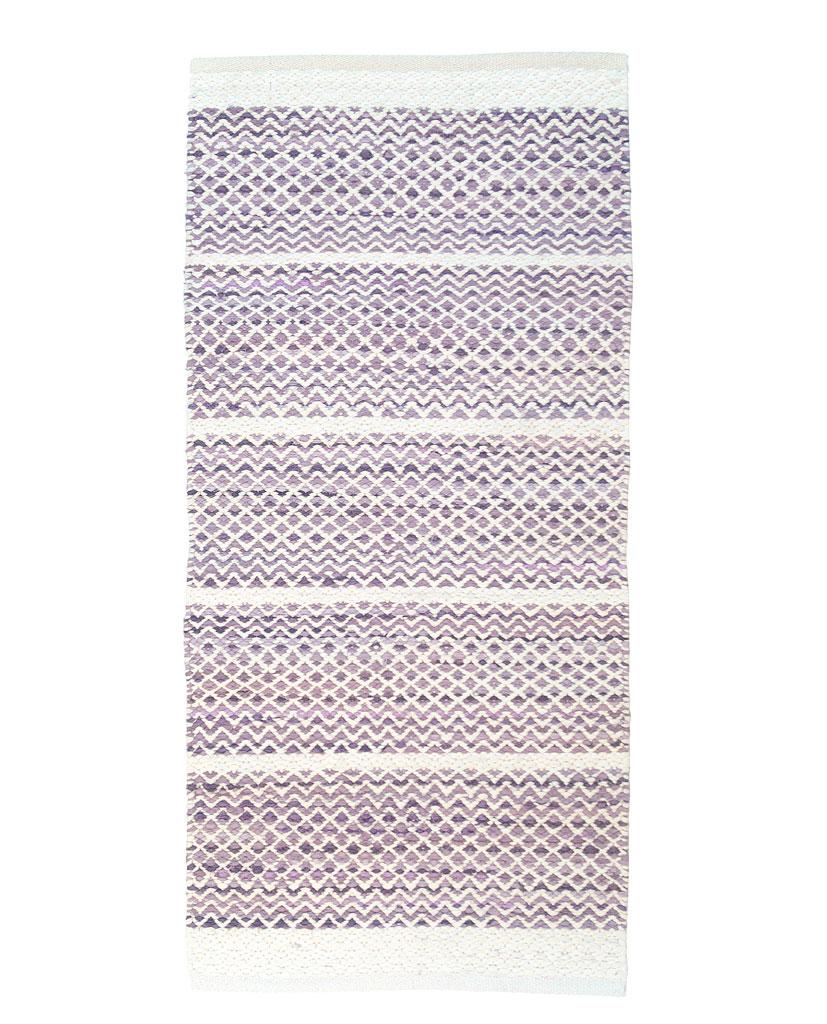 Finarte Usva lilac cotton rug