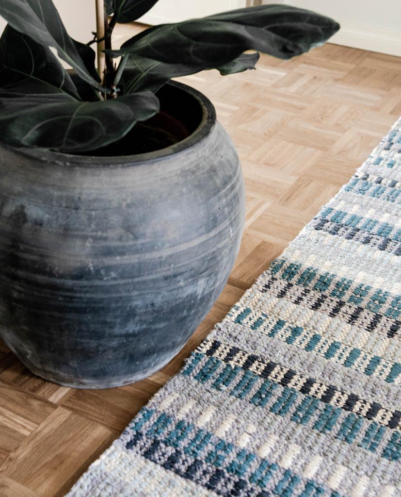 Finarte Huvila rag rug in turquoise
