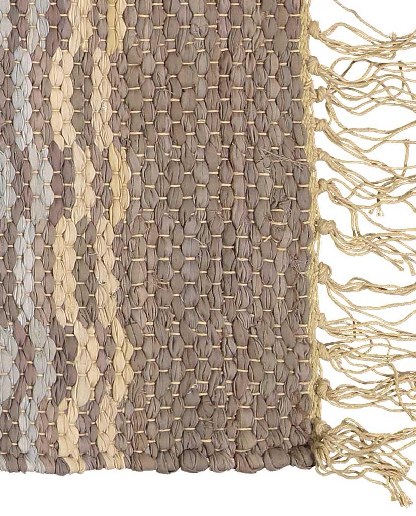 Finarte Laine striped cotton rug in brown