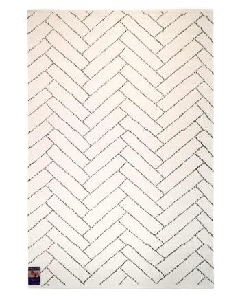 Finarte Aitta cotton rug in white
