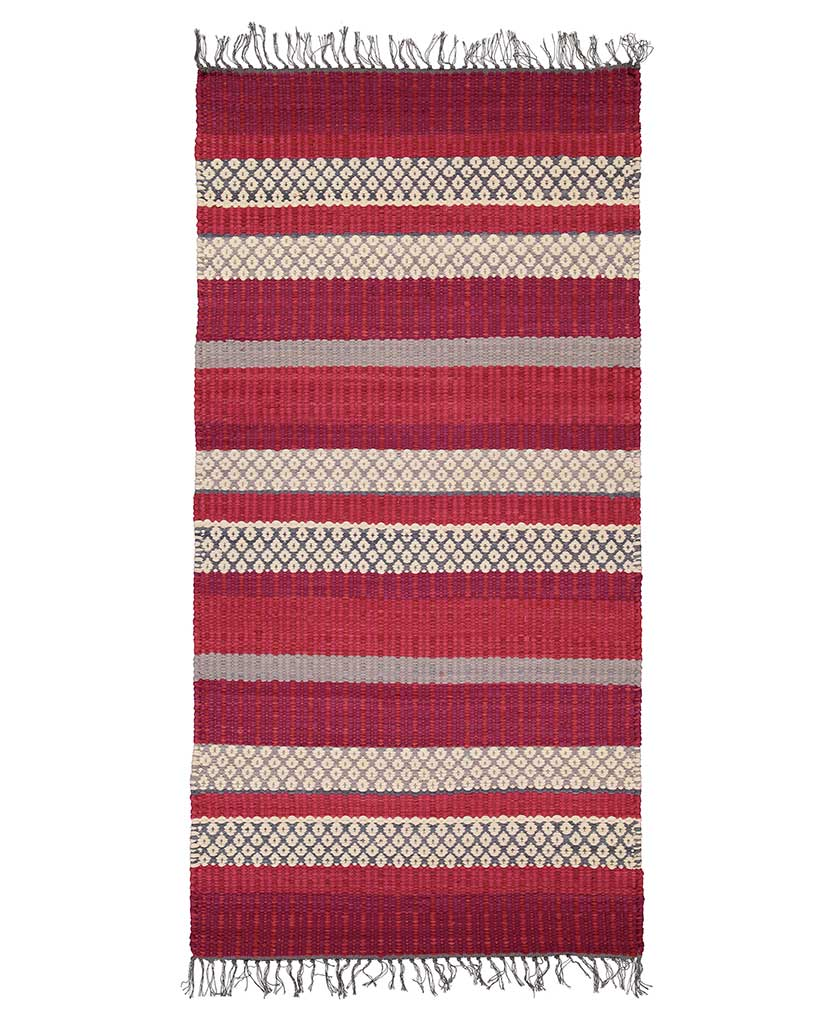 Finarte Birgitta rag rug in red