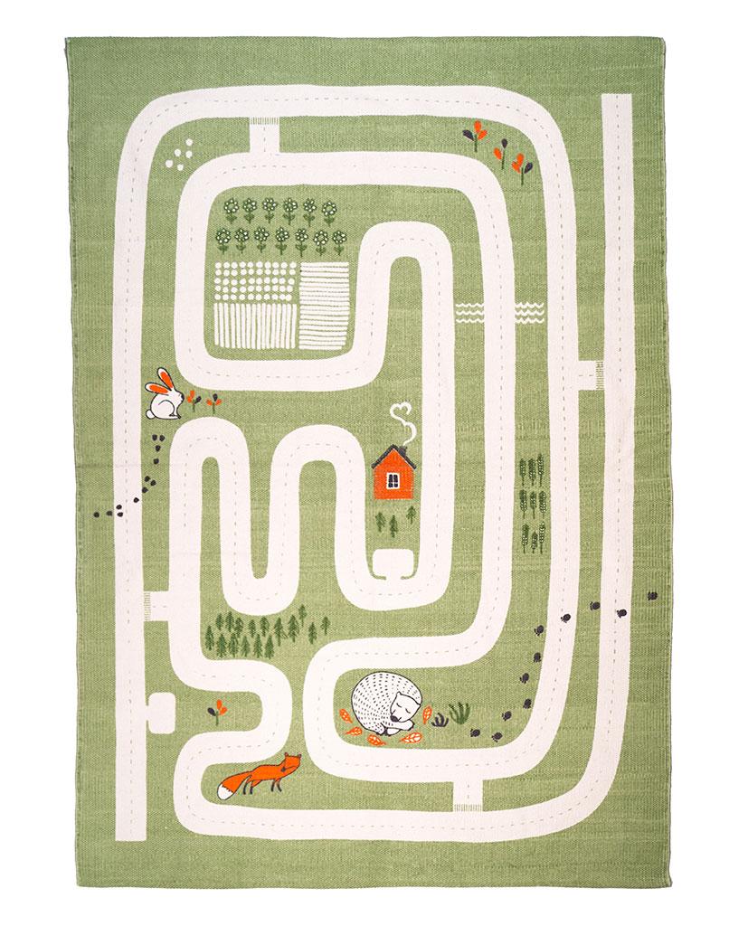 Finarte Maalla children's rug in green