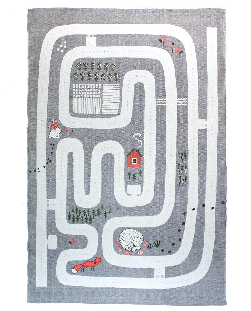 Finarte Maalla children's rug in grey