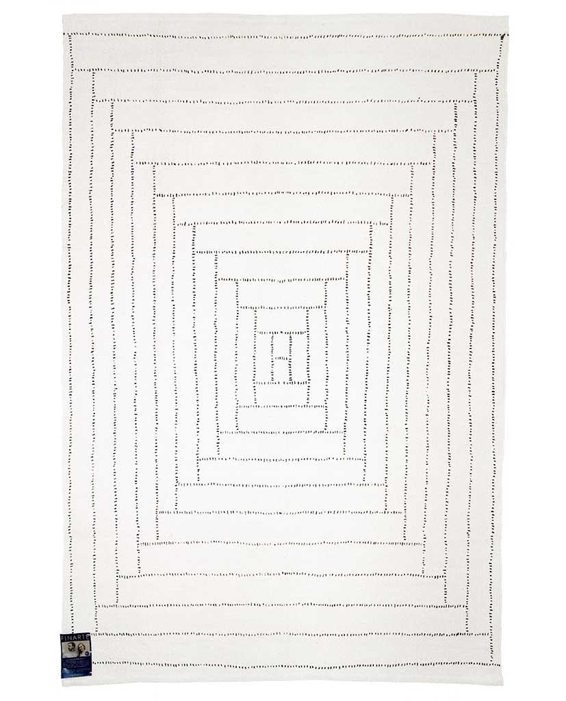 Finarte Piilopirtti cotton rug in white