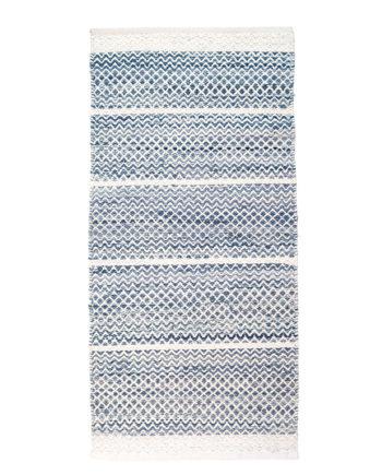 Finarte Usva blue cotton rug