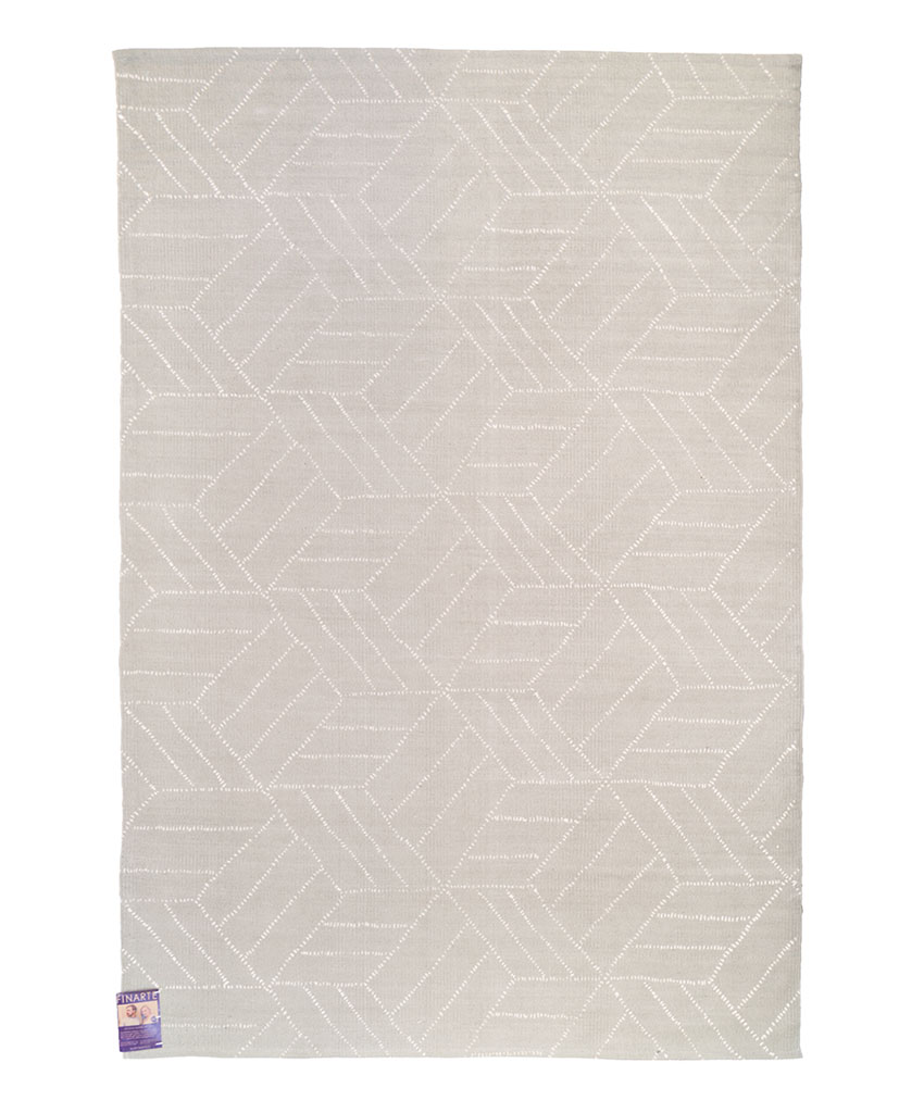 Finarte Kievari cotton rug in grey
