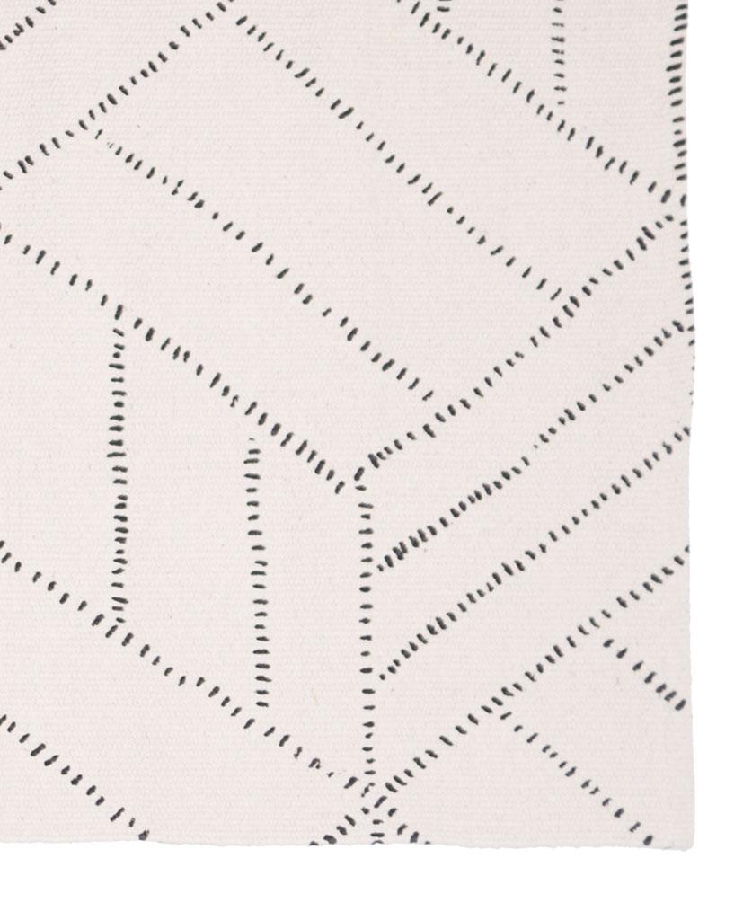Finarte Kievari cotton rug in white
