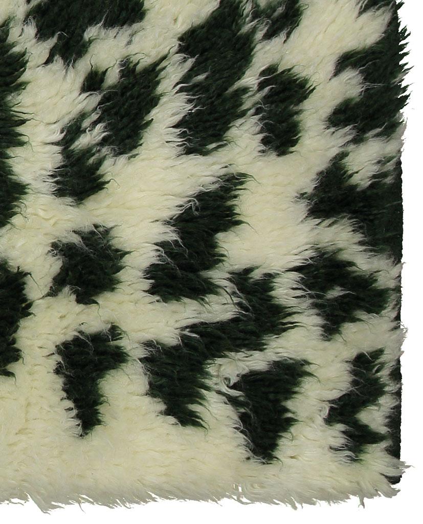 Finarte Hilla wool rug in white