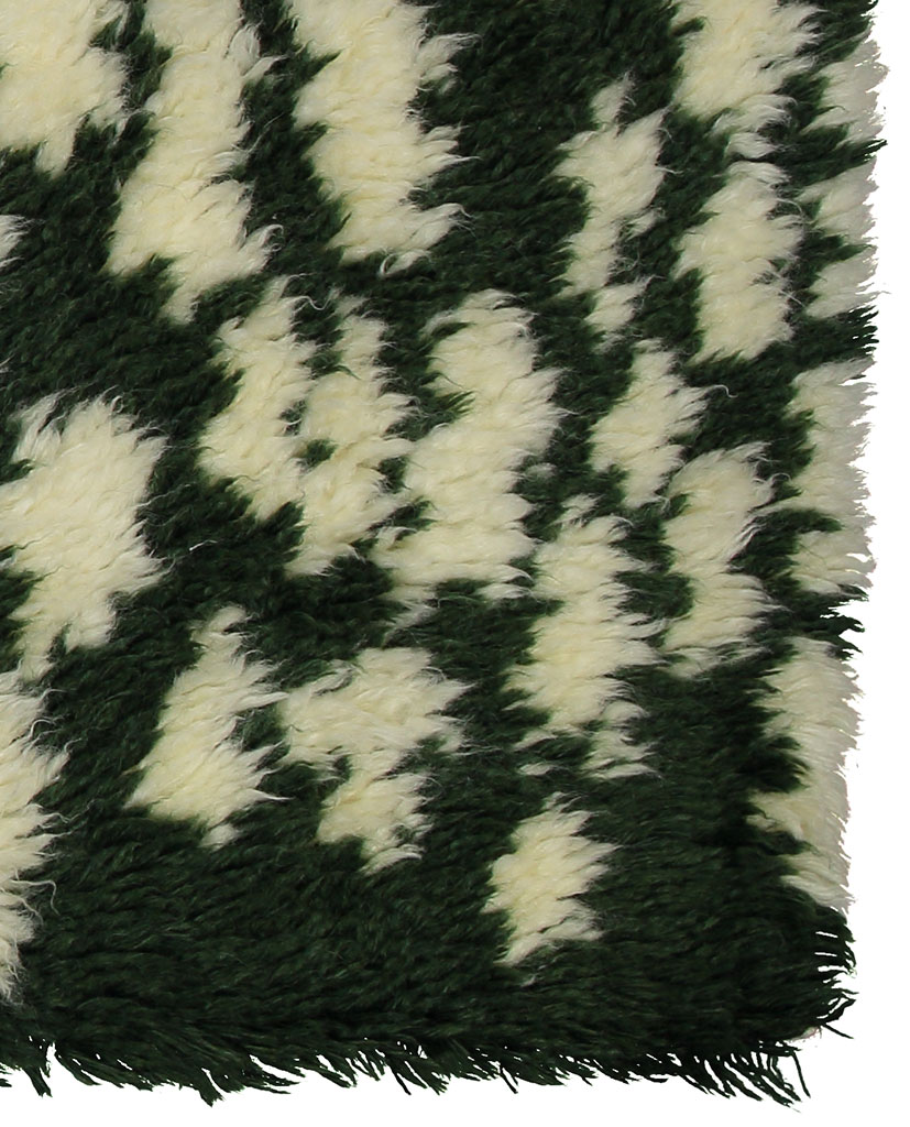 Finarte Hilla wool rug in green