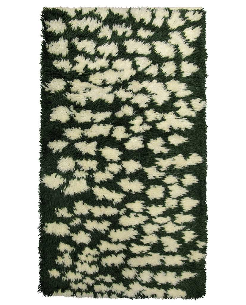 Finarte Hilla wool rug in green