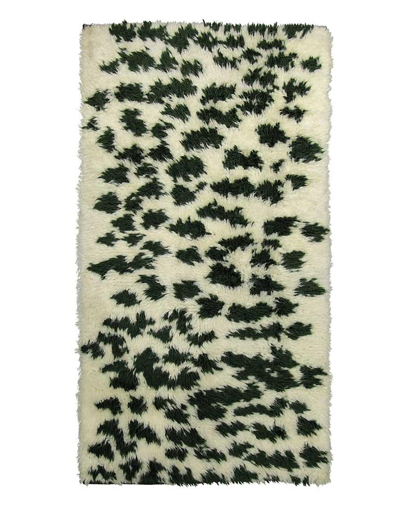 Finarte Hilla wool rug in white