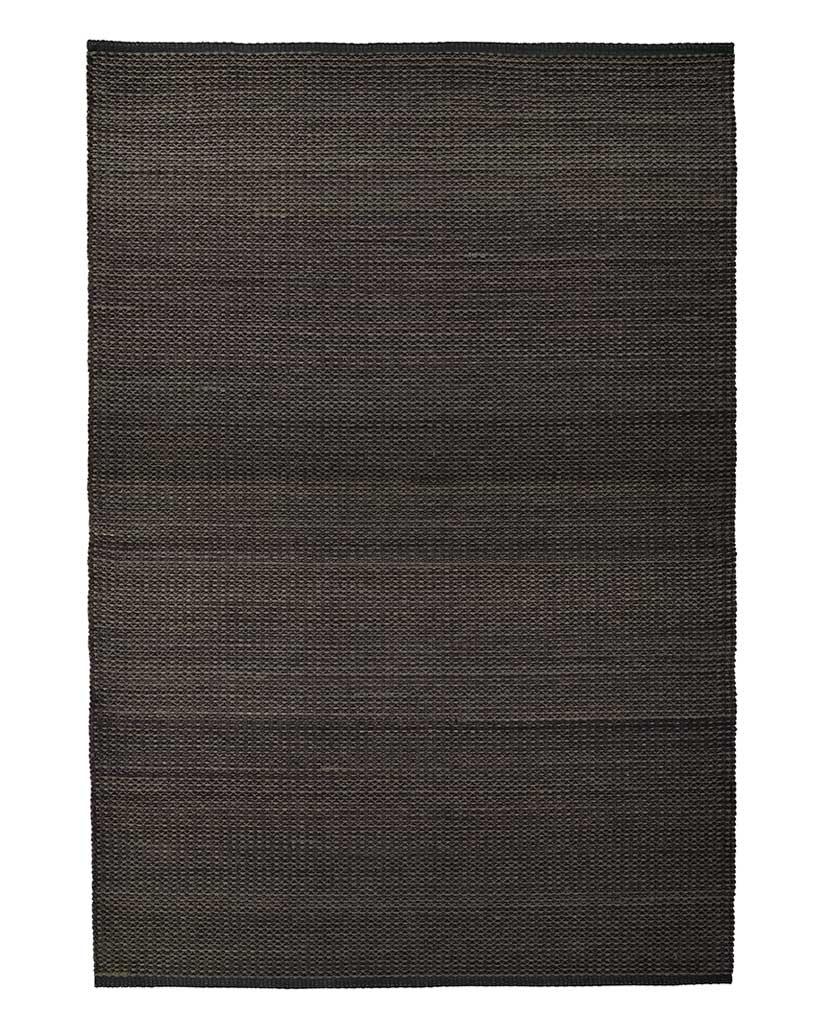Finarte Aurora chenille rug in black