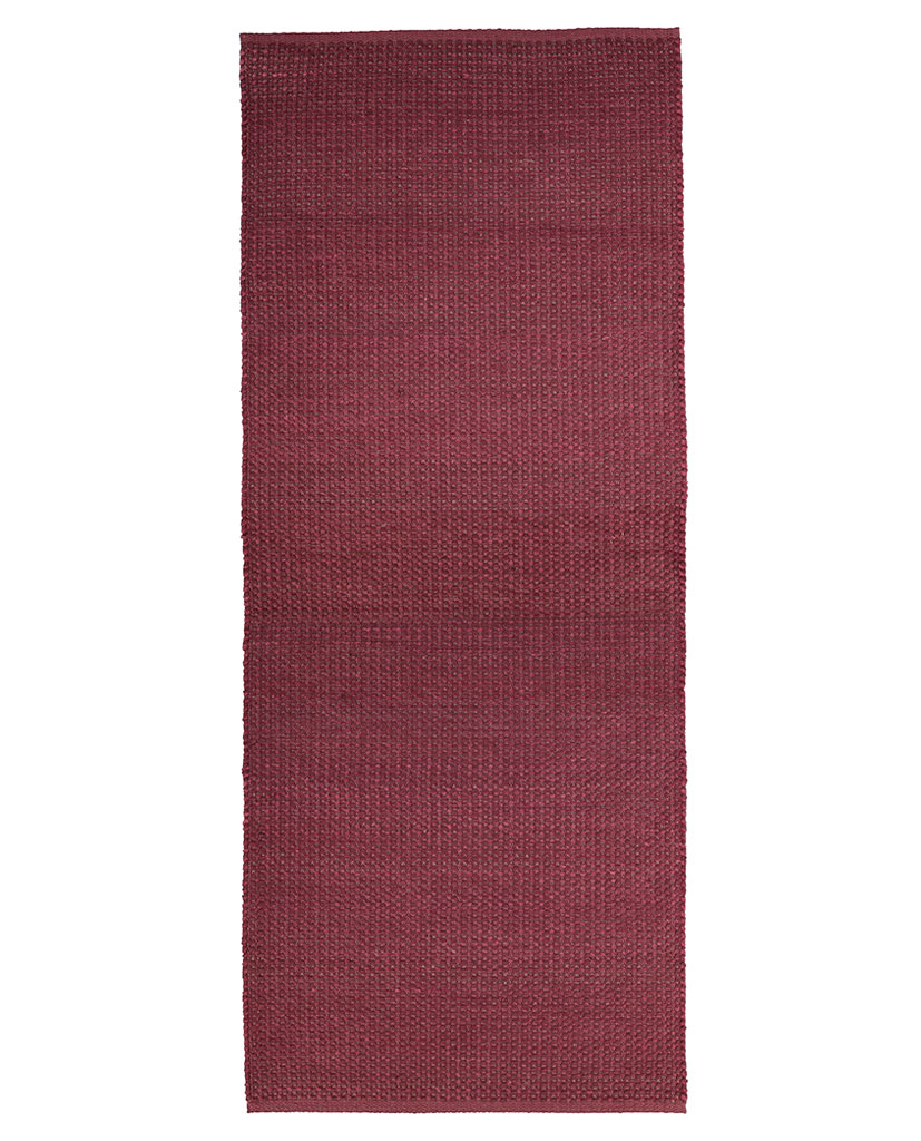 Finarte Aurora chenille rug in red