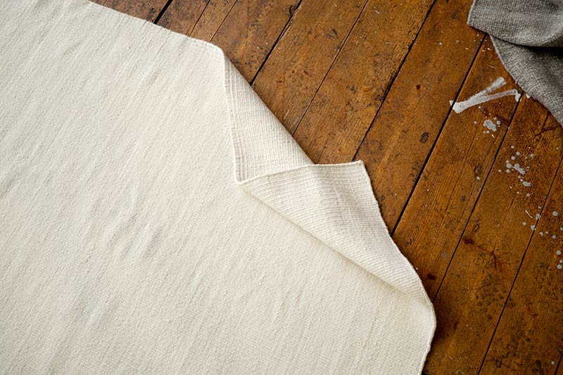 white wool rug nordic style