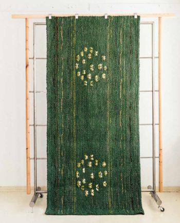 handwoven rag rug art