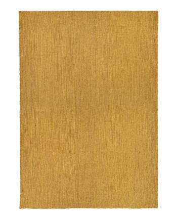Finarte Norm wool rug in mustard yellow
