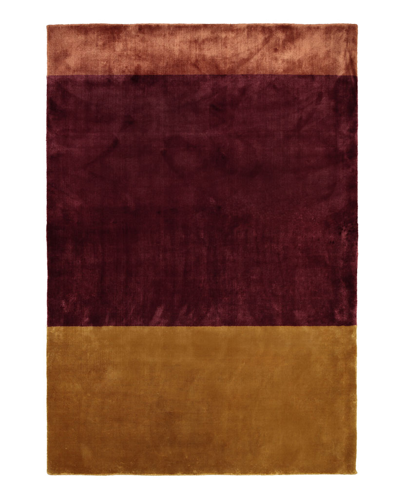 Finarte Suraya viscose carpet in burgundy