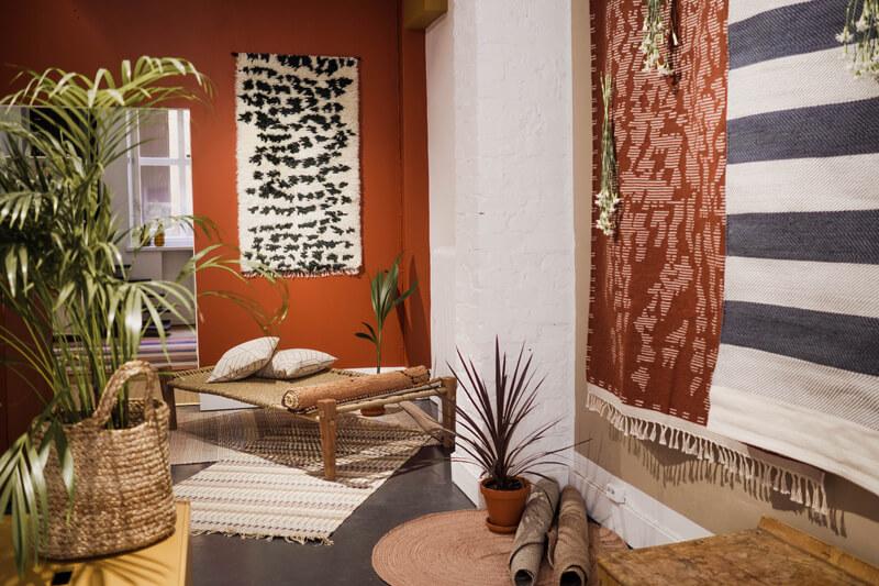 Finnish design rugs store in Helsinki