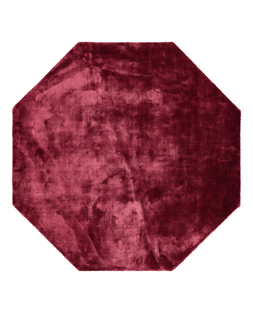 Finarte Suraya viscose carpet in burgundy