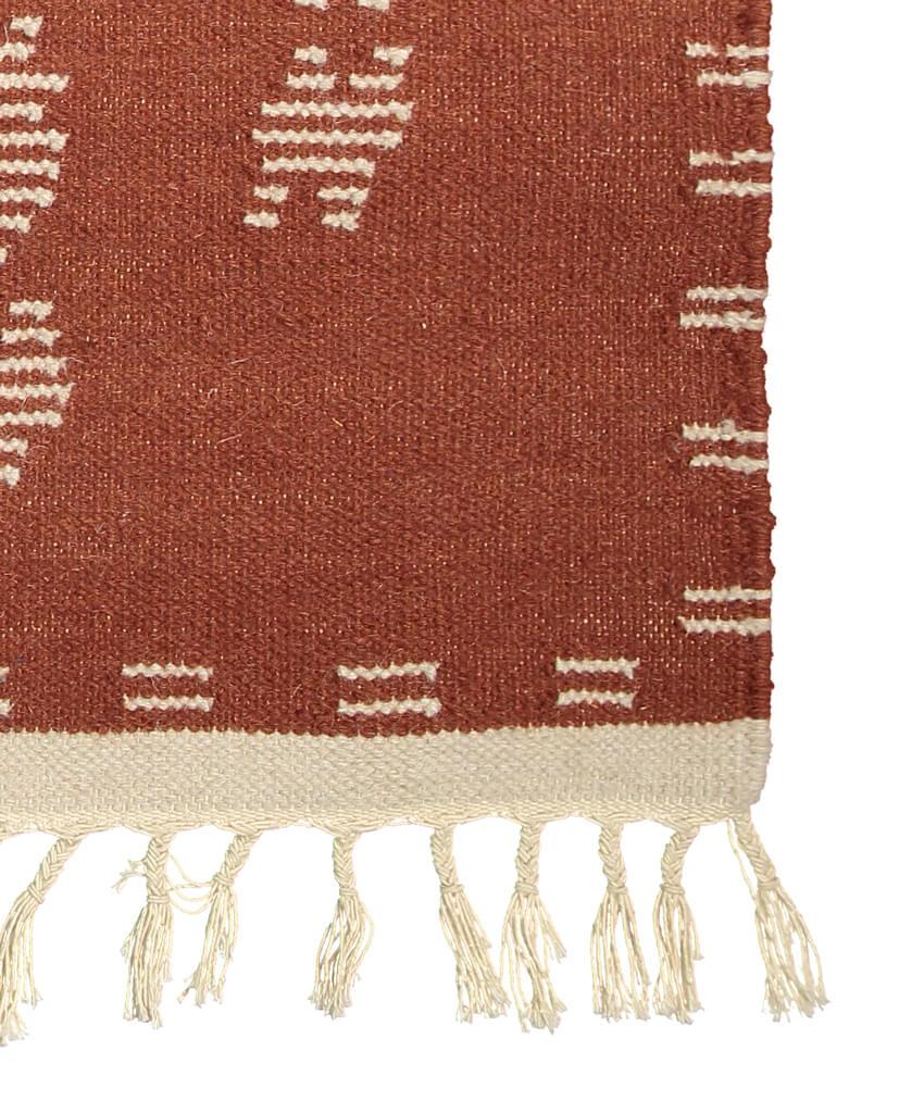handwoven flatweave wool rug