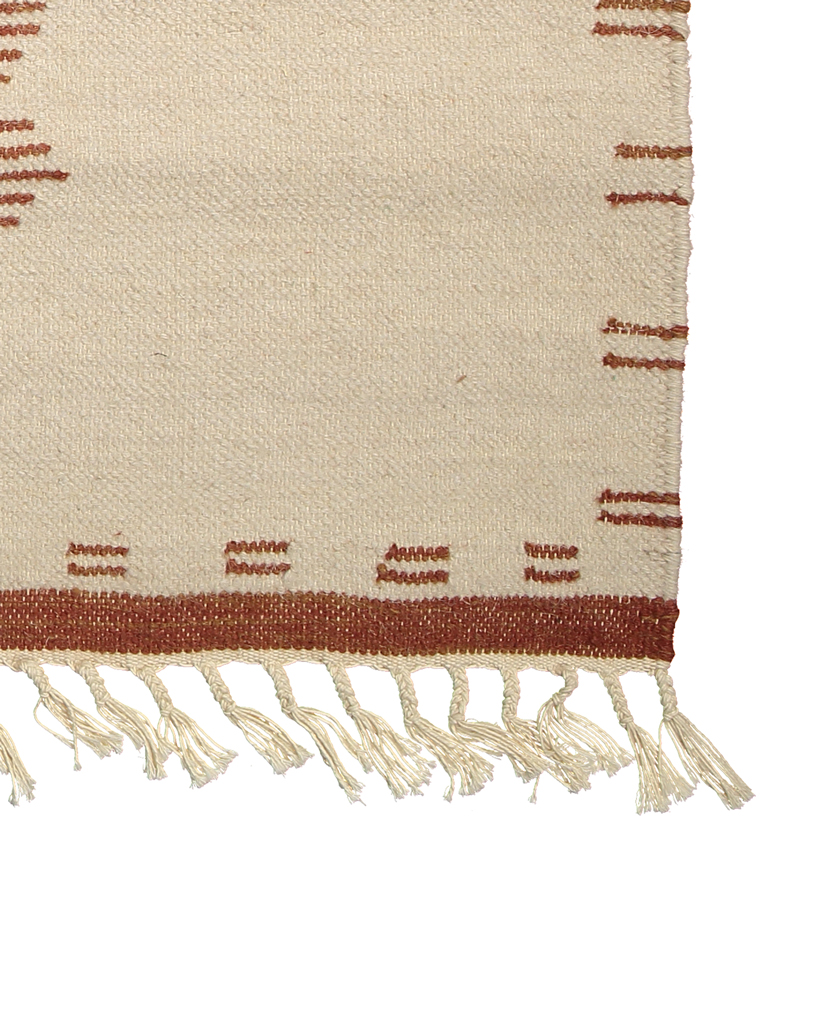 Finarte Saaristo wool rug in white