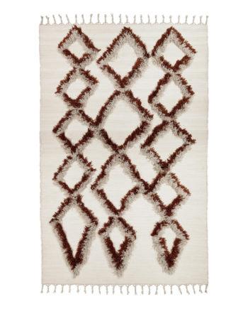Finarte Tie cotton rug in brown