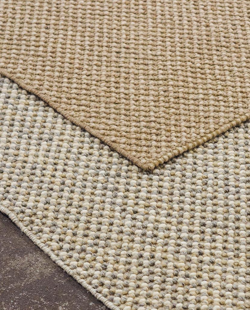 finarte keto wool rug beige grey- etail