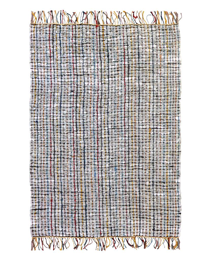 FINARTE Vilpola grey leather rug